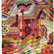 "Gunta Stölzl, Wall hanging - ""Slit Tapestry Red/Green"" 1927/28, Gobelin technique, Cotton, silk, linen, 150x110 cm, Foto: Bauhaus-Berlin"