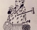 Die Frau vorm Rathaus