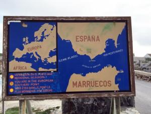 Karte Spanien - Marokko